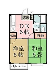 埼玉県八潮市緑町3丁目の賃貸マンションの間取り