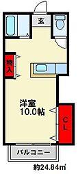 ヌーベル白木原[2階]の間取り