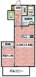 レスポワール・K[302号室]の間取り