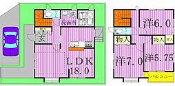 [一戸建] 千葉県柏市つくしが丘4丁目 の賃貸【/】の間取り