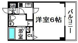 大阪府大阪市西区土佐堀2丁目の賃貸マンションの間取り