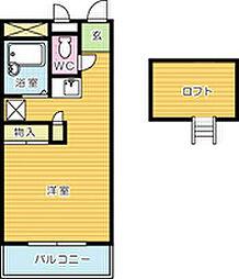 レオパレスYOU[203号室]の間取り