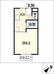 ウッドヴィレッヂ[2階]の間取り
