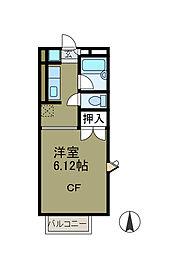 シャルム町田[2階]の間取り