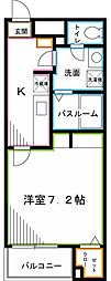 JR中央本線 西荻窪駅 徒歩20分の賃貸マンション 4階1Kの間取り