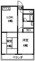 Nasu1ビル[607号室]の間取り