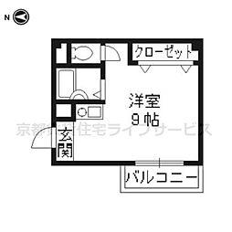 Y'sマンション[402号室]の間取り