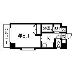 インベスト北梅田[304号室]の間取り