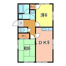 水越アパート[A号室]の間取り
