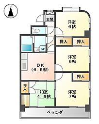 エトワールシャトー[4階]の間取り