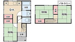 [一戸建] 千葉県松戸市稔台4丁目 の賃貸【/】の間取り