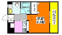 大阪府東大阪市西堤学園町1丁目の賃貸マンションの間取り