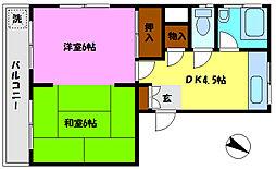 みのるマンション[305号室]の間取り