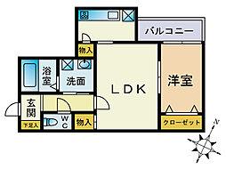 カグアール大濠1[2階]の間取り