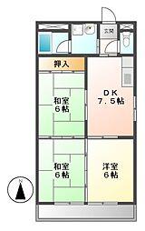 ニシムラハイツ[2階]の間取り