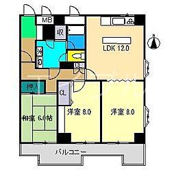 東武ハイライン唐人町[6階]の間取り