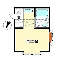ルーチェ湘南[2階]の間取り