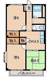 コーポ妙寺[1階]の間取り