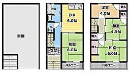 [一戸建] 大阪府門真市巣本町 の賃貸【大阪府 / 門真市】の間取り