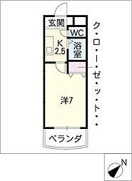植田山DS1マンション[2階]の間取り