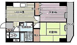 東京都江戸川区松江3丁目の賃貸アパートの間取り