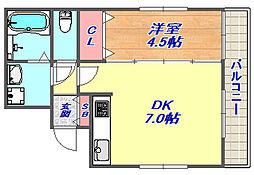 カネヨシ六甲ビル[3階]の間取り