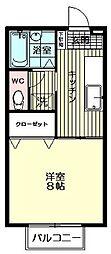 セジュールMAI[202号室号室]の間取り