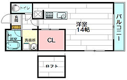 casa de viola[210号室]の間取り