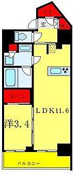 リビオメゾン御茶ノ水 3階1LDKの間取り