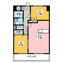 ARRIVE'E 東古松[5階]の間取り