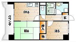 トーカンマンション高炉台公園[6階]の間取り