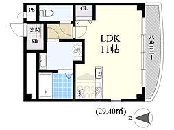 DIT COART 2階ワンルームの間取り