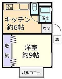 ハイツ千葉[2階]の間取り