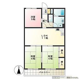 高松レジデンス[2階]の間取り