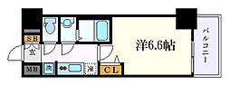 名古屋市営東山線 亀島駅 徒歩3分の賃貸マンション 9階1Kの間取り