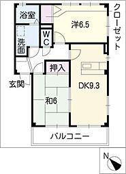 サンパティA棟[2階]の間取り