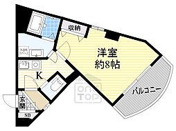Osaka Metro谷町線 野江内代駅 徒歩1分の賃貸マンション 3階1Kの間取り