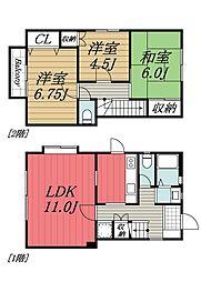 [タウンハウス] 千葉県千葉市緑区大膳野町 の賃貸【/】の間取り