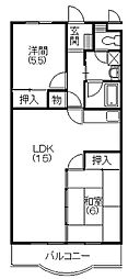 コンフォートシティFUKUROI[302号室]の間取り