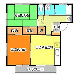 ミューレンハイツA棟[1階]の間取り