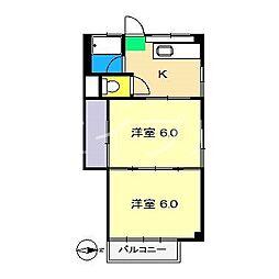 五百蔵マンション[3階]の間取り