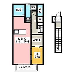 キーマ[2階]の間取り