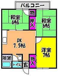 ハイツ藤沢[201号室]の間取り