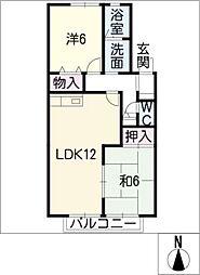 ディアコートIIIB棟[2階]の間取り