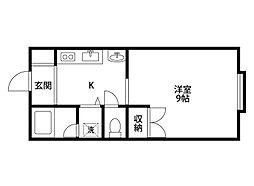 コスモハウス[2階]の間取り
