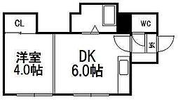 第2マンションポプラ[10号室]の間取り