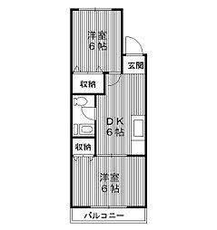 東京都練馬区豊玉北2丁目の賃貸マンションの間取り