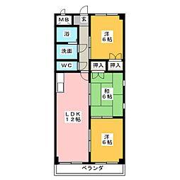 メゾンドフォーレ大塚II[1階]の間取り