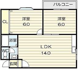マイプラザ田島[1階]の間取り
