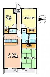 グランコート鈴の宮[4階]の間取り